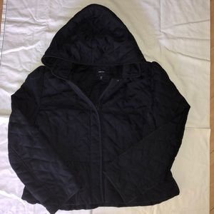 Big girls quilted navy blue jacket